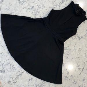 ✨Forever 21✨ black sleeveless skater dress